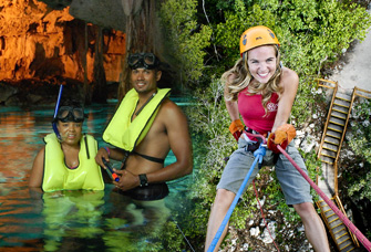 tour-snorkel-tirolesas-rapel-cancun